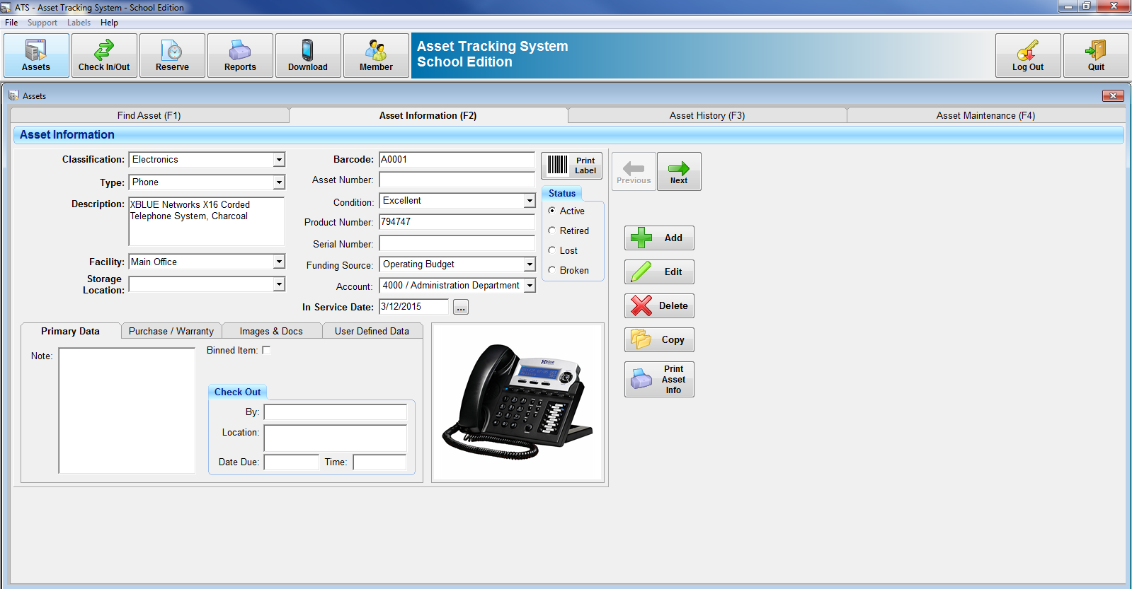 asset tracking system asset management software features benefits